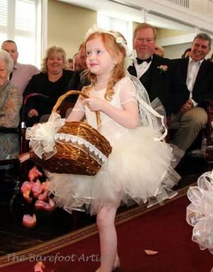 White Ivory Champagne Lace Leotard Tulle Skirt Flower Girl Dress Wedding