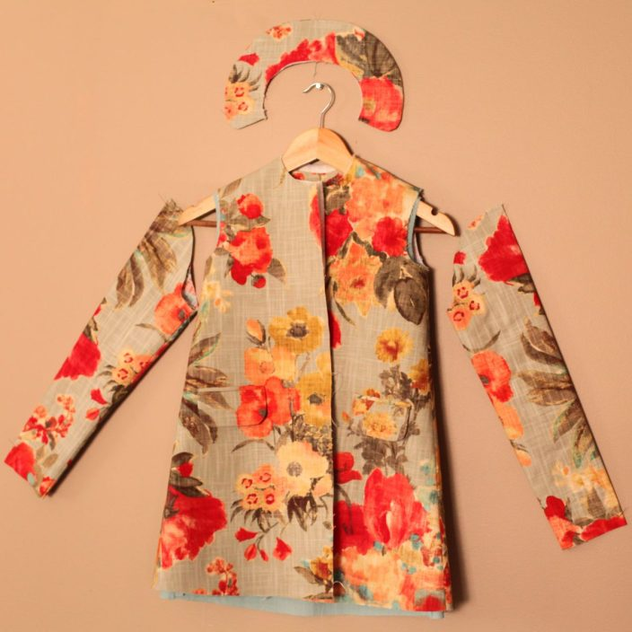Floral Easter Girls Bright Spring Jacket