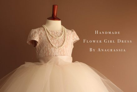 Champagne ivory tulle leotard chantilly lace flower girl