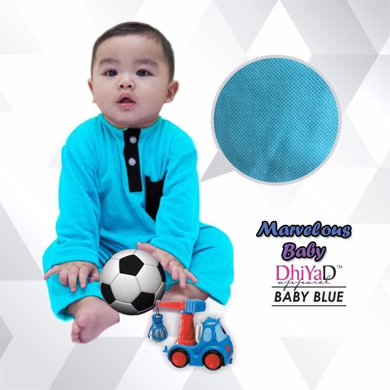Romper Baju Melayu DHIYAD Baby Blue