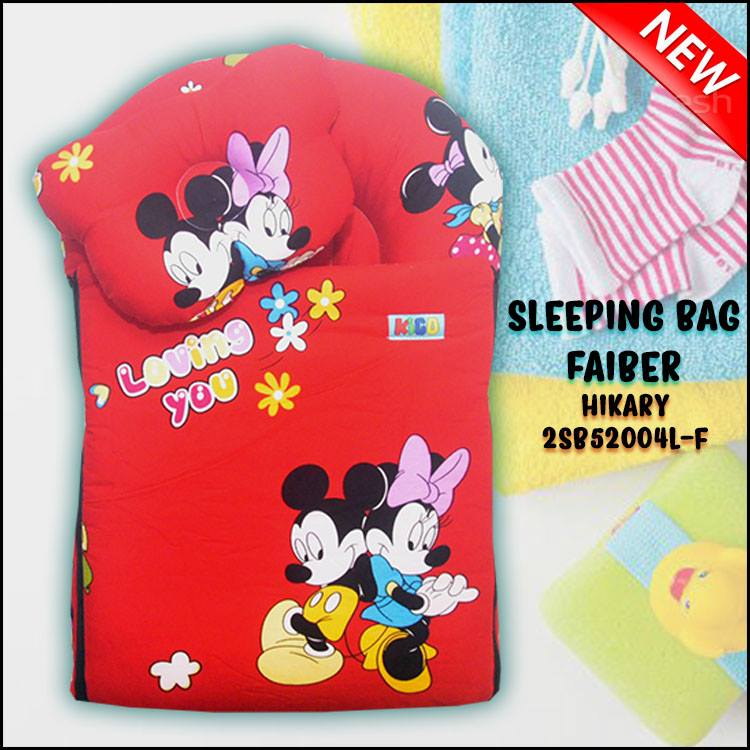 SLEEPING BAG FIBER MICKEY HIKARY KAIN COTTON BALDU SAIZ L