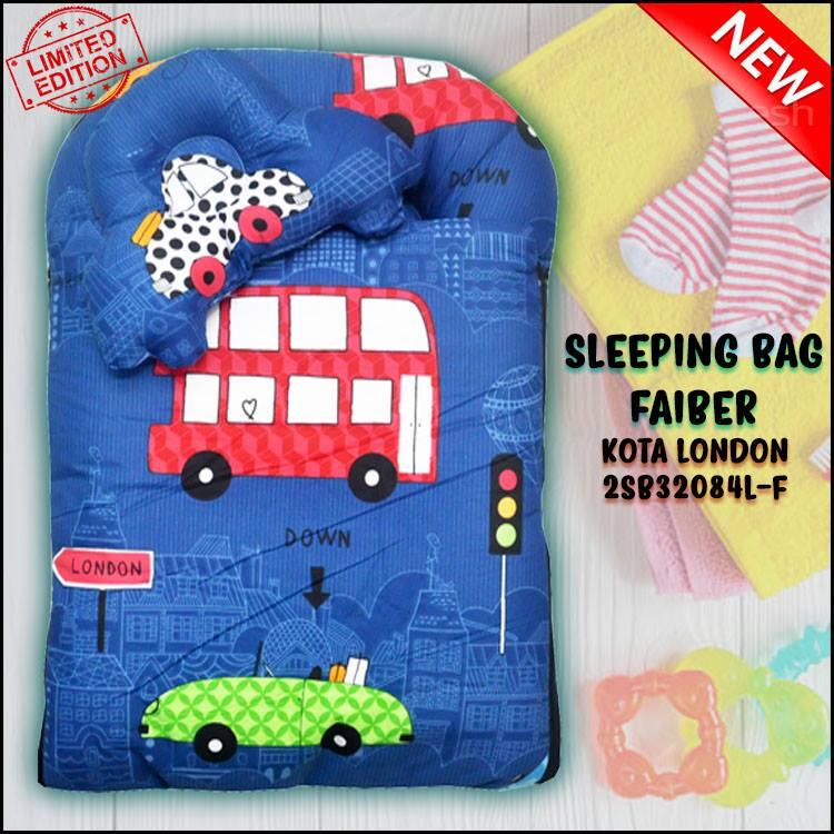 SLEEPING BAG FIBER CAR KOTA LONDON KAIN COTTON ASLI SAIZ L
