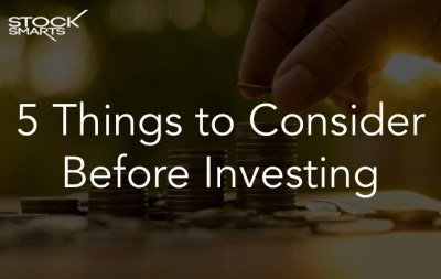 5 Things to Consider Before Investing - Marvin Germo