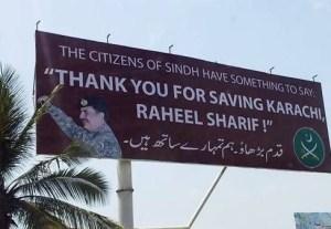 raheel Sharif Advertisement Bill board