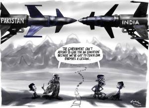 india-pakistan-education-war-cartoon
