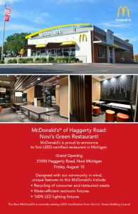 Promoting McDonald's® commitment to energy efficiency