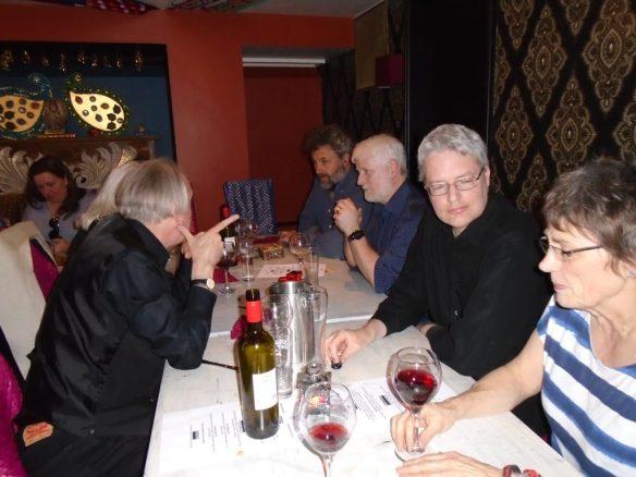 dinner B Steve Bell etc