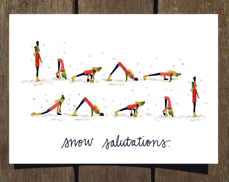 NEW* Yoga-Inspired Holiday Cards Now Available!