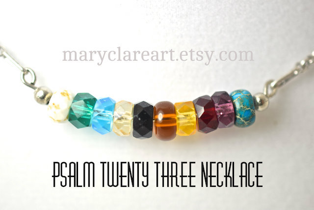 Faceted Rondelle Psalm 23 Necklace