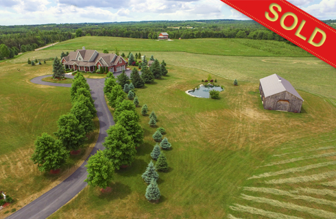 Caledon Custom Built Bungaloft on 14.83 Acres w/ Pool, Pond, Workshop