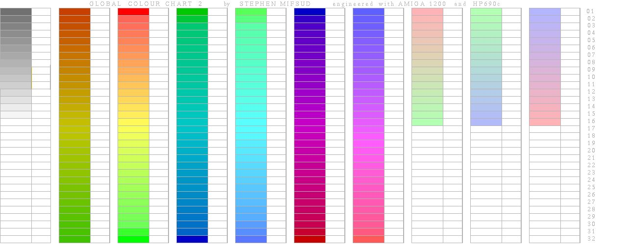 Html Color Code Chart Rgb And Hex Codes For Different Skin And - general color chart template