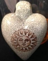 Art sunburst pendant