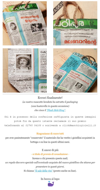 Newsletter Maschio Gioielli _ sorteggio anello flash mob