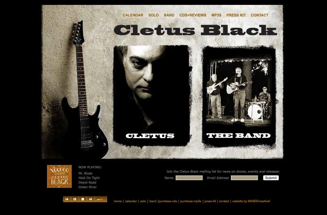Web Design CletusBlack.com
