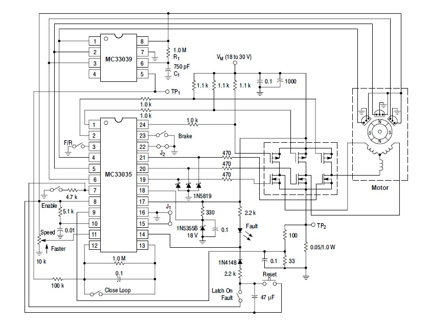 brushless motor controller schematic