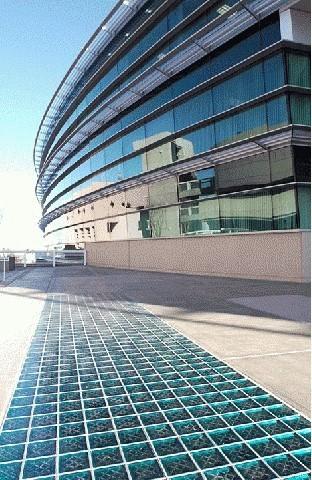 Glass block pavers floors