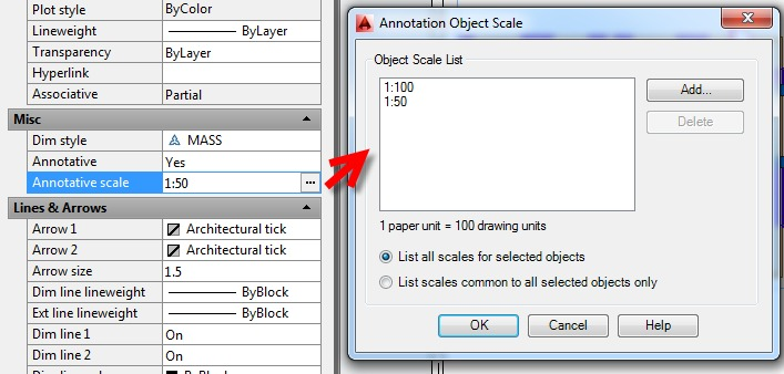 Mass Using Annotation scales with AutoCAD dimensions