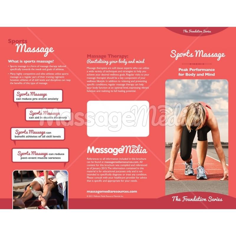 Sports Massage Brochure - sports brochure