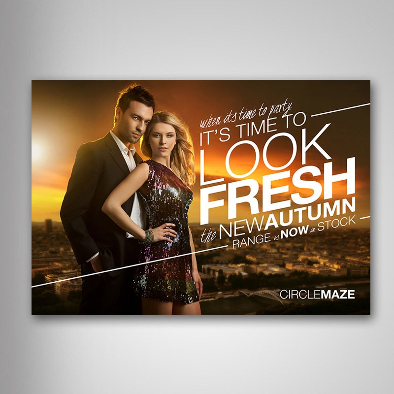 Ad Design Liverpool Fashion Store Circle Maze Advertising Posters