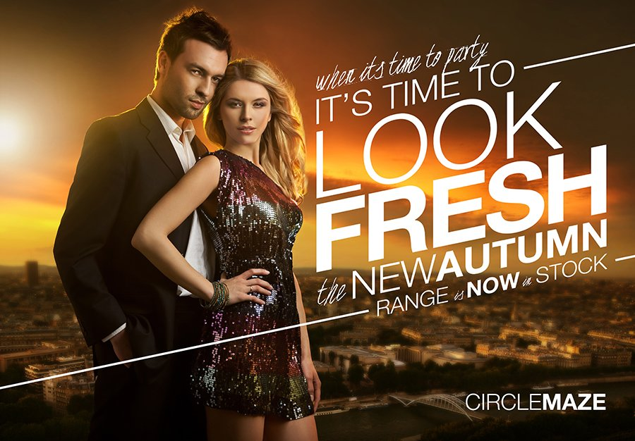 Ad Design Liverpool Fashion Store Circle Maze Advertising Posters - fashion poster design
