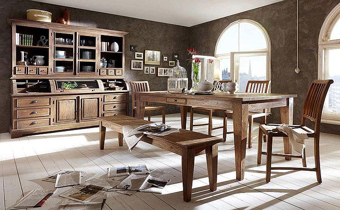 Teak-Holz massiv recycelt - Massivholz-Möbel in Goslar Massivholz - esszimmer aus holz