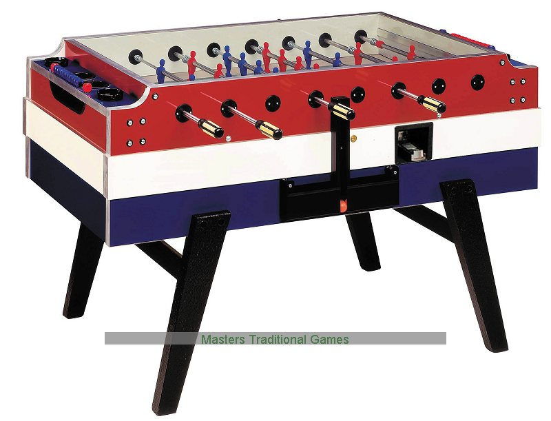 Garlando Red White Blue Football Table Coin Operated
