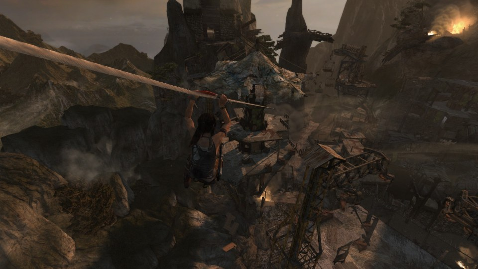 Tomb Raider more ziplining