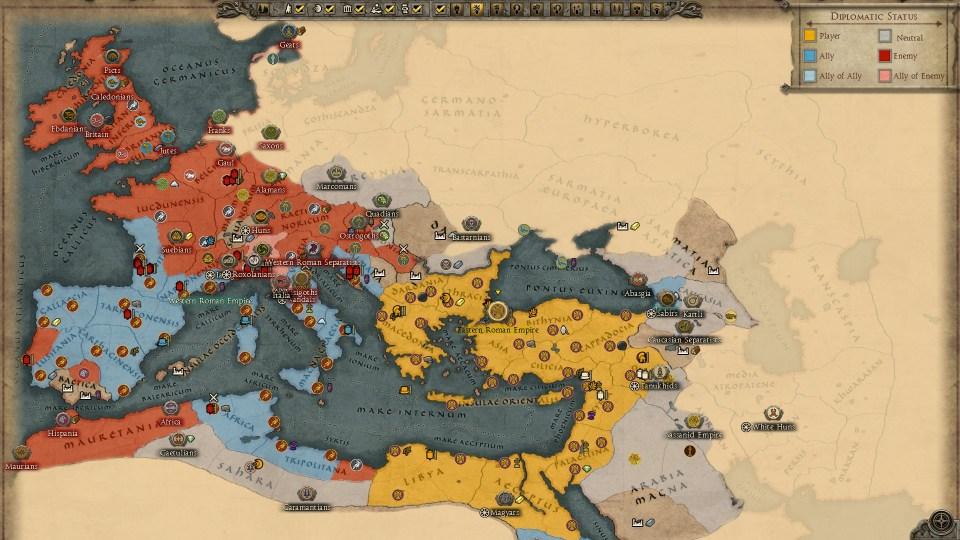 Attila - ERE map turn 28