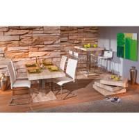 Table de salle  manger design chne sonoma/chrome Plaza ...