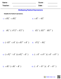 Algebra 1 Worksheets | Dynamically Created Algebra 1 ...