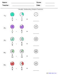 Fractions Worksheets | Printable Fractions Worksheets for ...