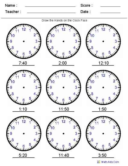 Printable time worksheets for learning how to tell the time - time worksheets