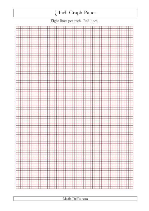 eighth inch graph paper