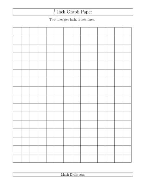 printable graph paper 1 2 inch