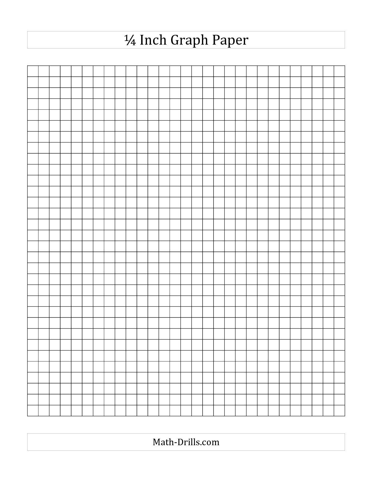 Printable Graph Paper Quarter Inch   RESUMES CV EXAMPLES GALERY