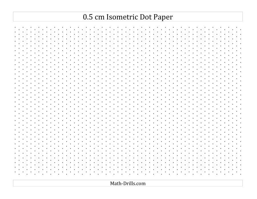 05 cm Isometric Dot Paper (Landscape) (A)