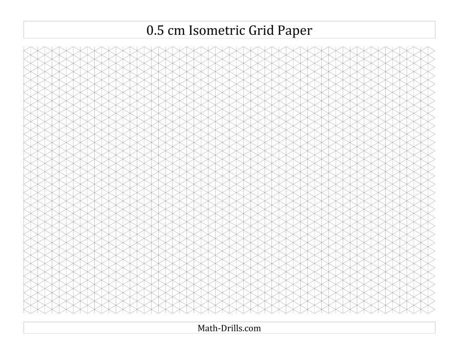Isometric Graph Paper - Design Templates