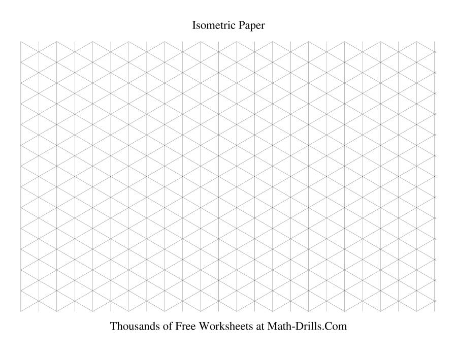 Isometric grid -- Large Landscape