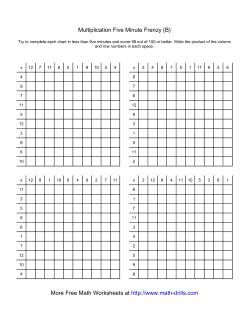 multiplication frenzy worksheet pro-thai