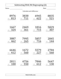 4 Digit Subtraction - descargardropbox