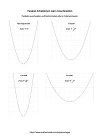 Parabel Schablone PDF - Parabelschablone zum selber machen