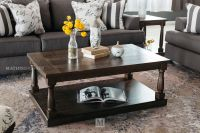Rectangular Contemporary Coffee Table in Dark Espresso ...