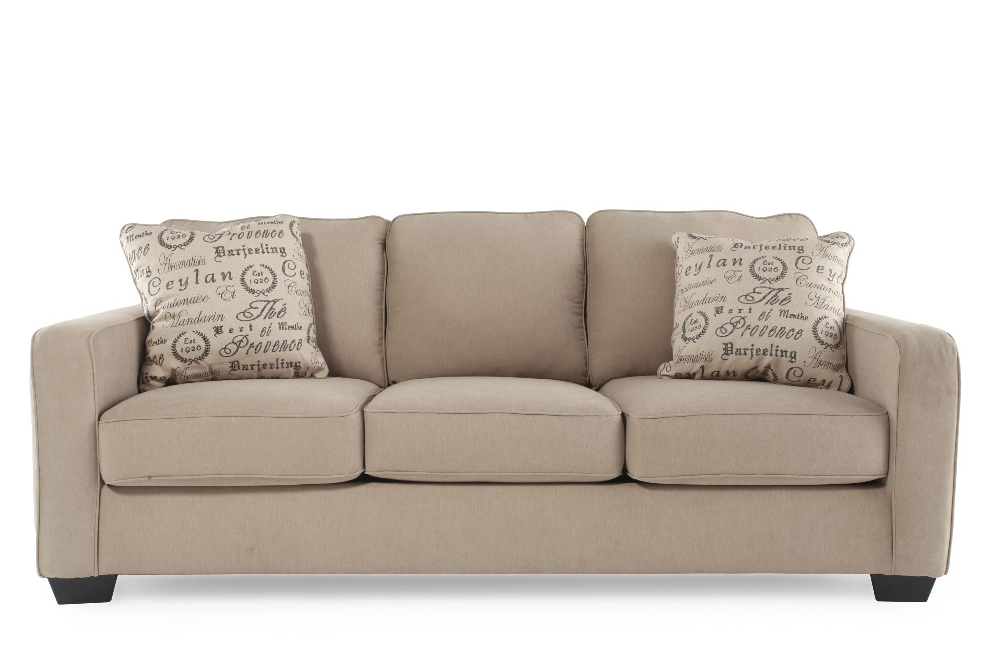 Casual 84quot Sofa In Mushroom Mathis Brothers Furniture