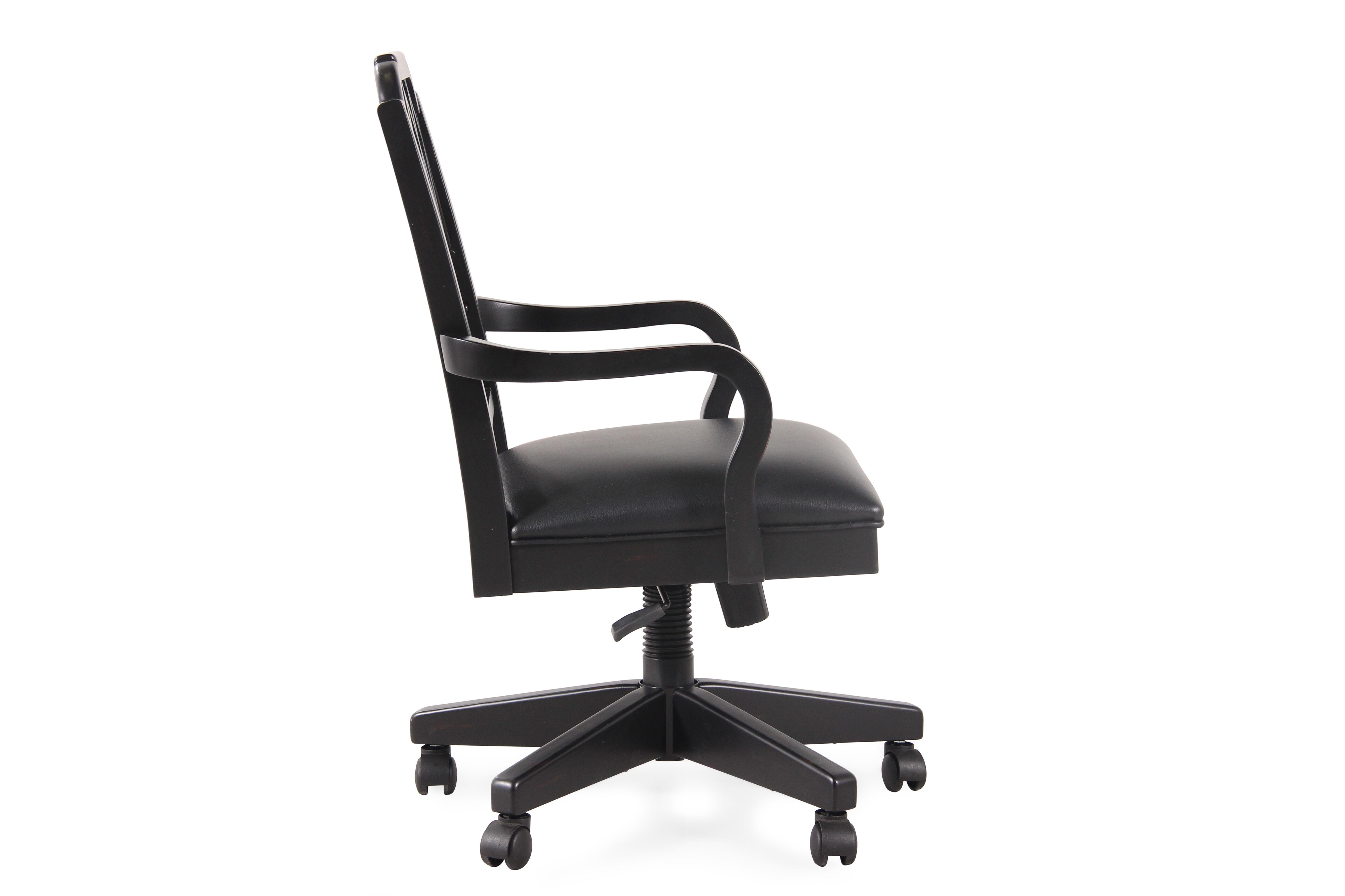 Cathedral Splat Back Swivel Tilt Office Chair In Black