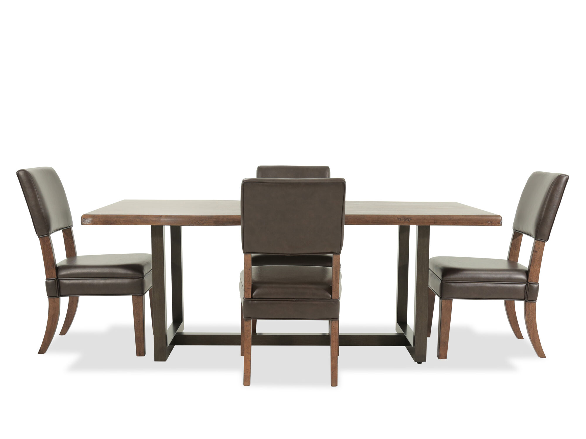Five Piece Casual 803939 Dining Set In Brown Mathis