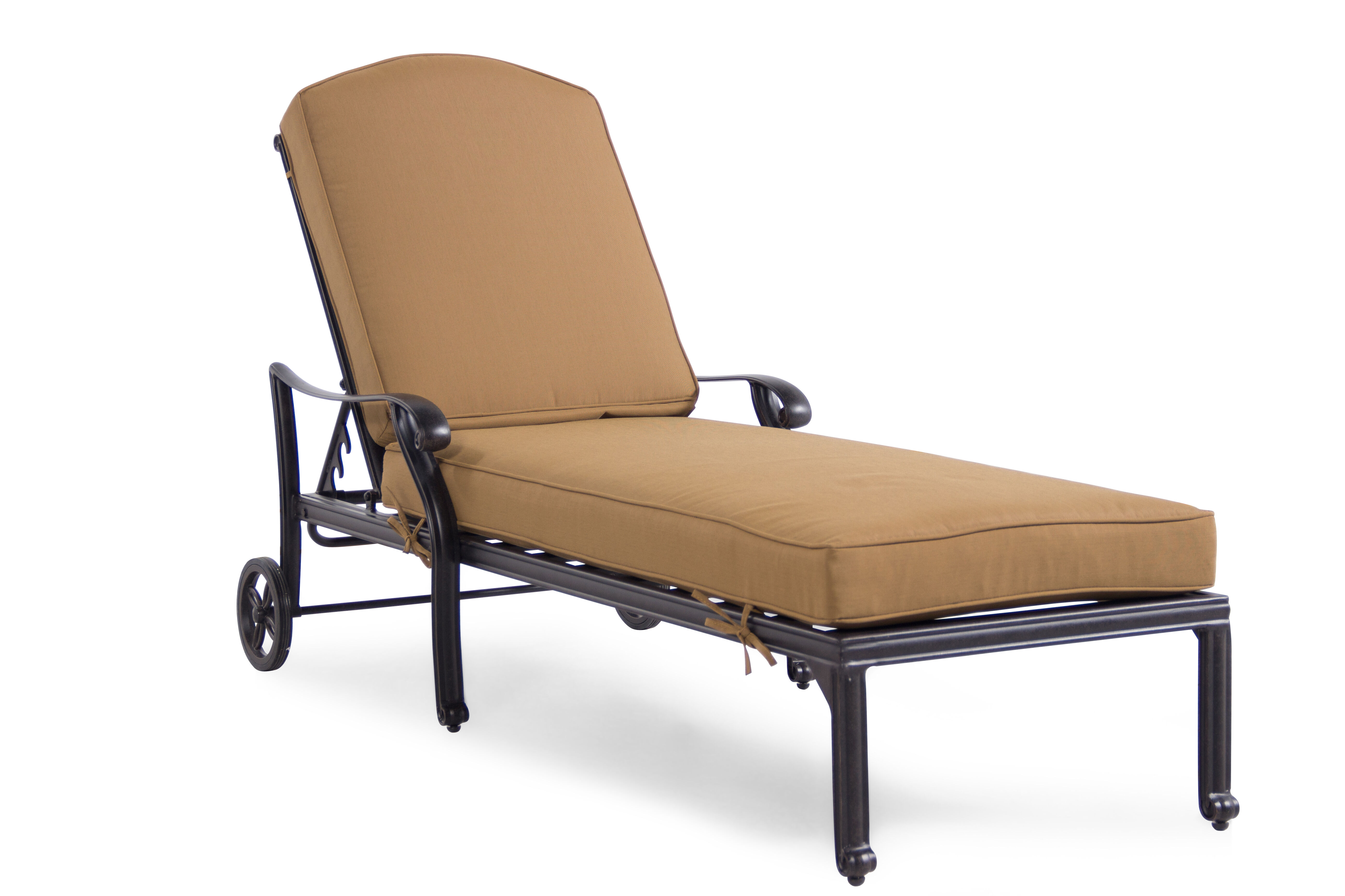 Weather Resistant Aluminum Chaise Lounge In Brown Mathis