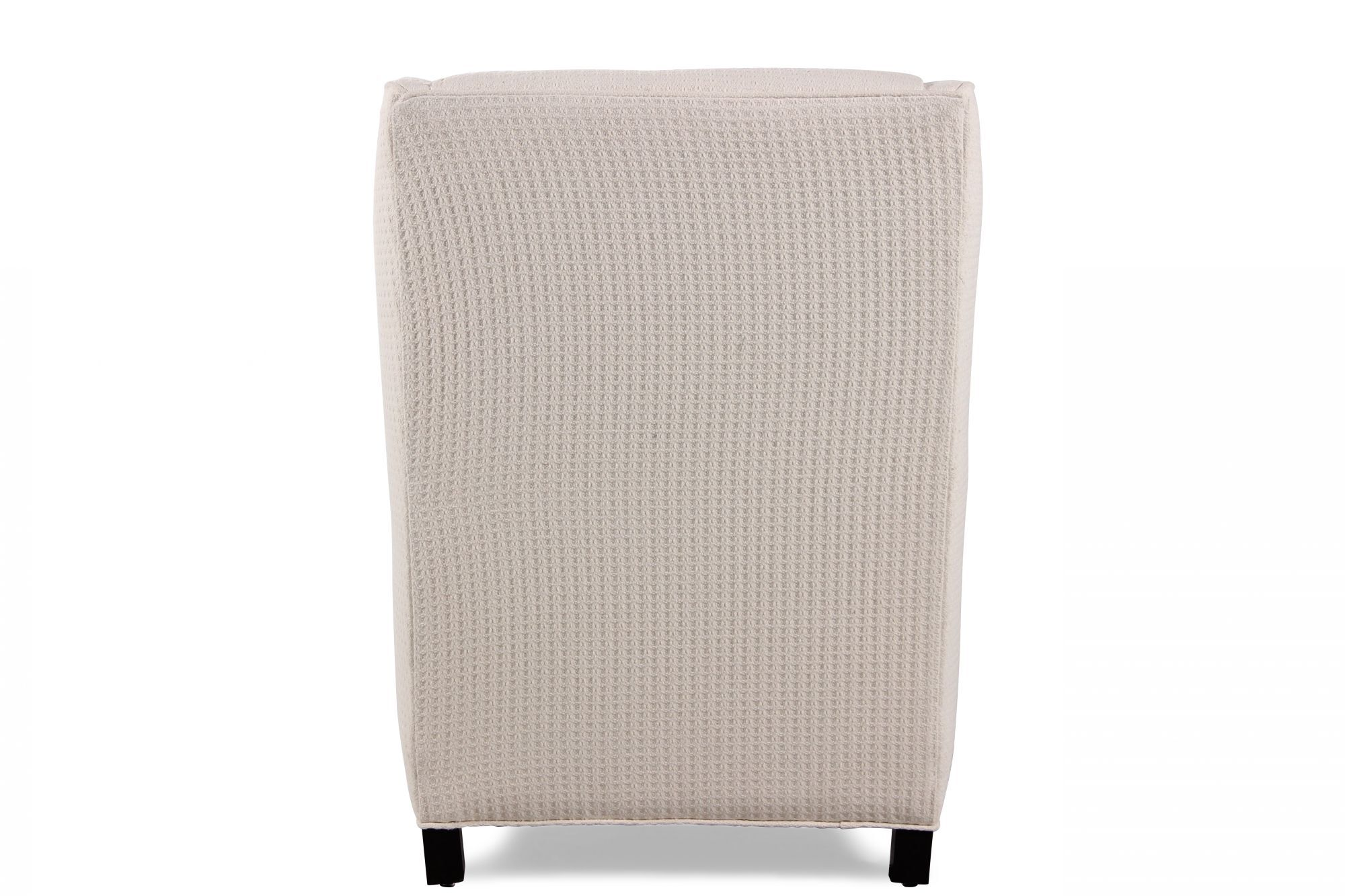 Textured Contemporary Wing Chair In Cream Mathis