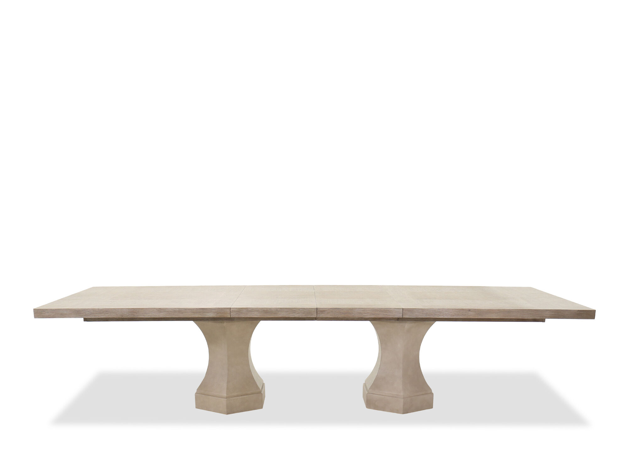 Traditional 92quot Double Pedestal Dining Table In Sandstone