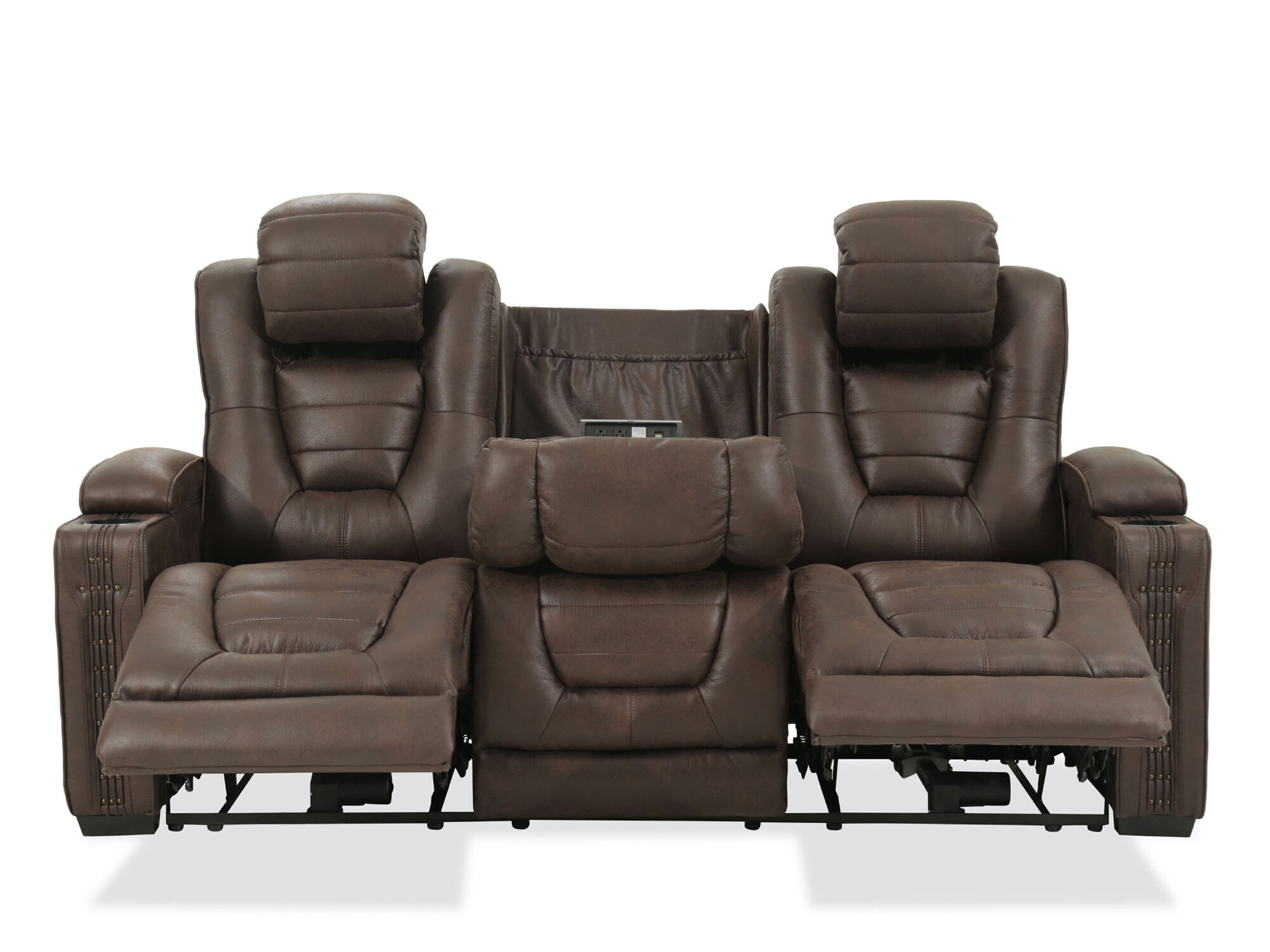 power reclining sofa microfiber