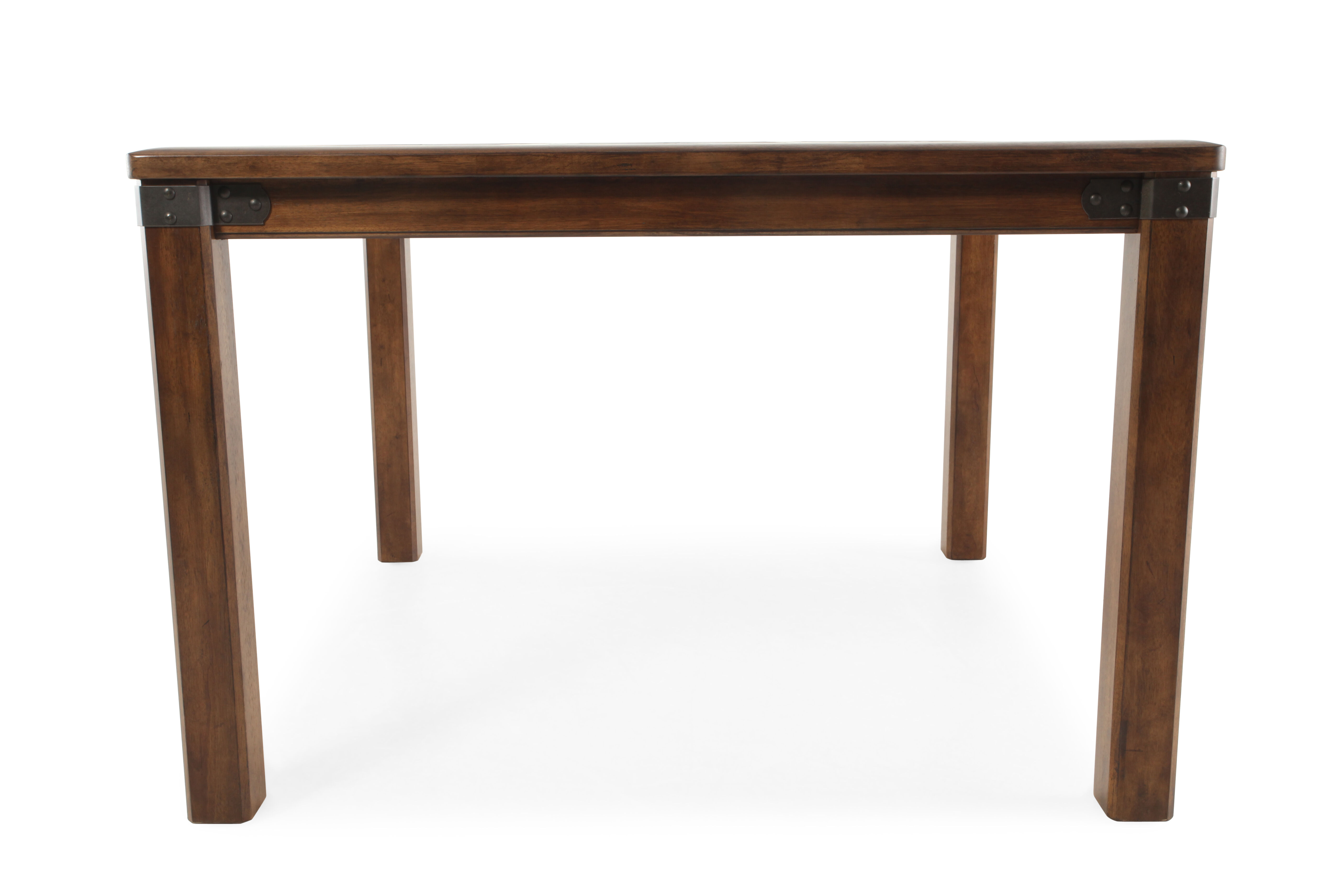 Traditional 54quot Metal Strap Accented Gathering Table In